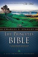 NKJV Charles F Stanley Life Principles Bible Lp Black Bonded Leather
