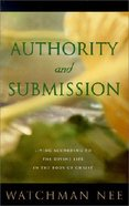 Authority and Submission (2nd Edition) Paperback