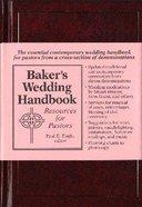 Baker's Wedding Handbook Hardback