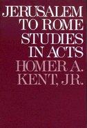 Jerusalem to Rome Paperback