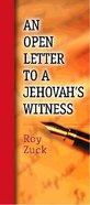 An Open Letter to a Jehovah's Witness (Pack 10) Pack
