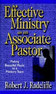 Effective Ministry as An Associate Pastor