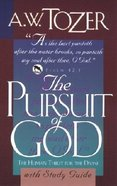 Pursuit of God (With Study Guide) Paperback
