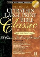NKJV Ultrathin Classic Large Print Slide Tab Black Bonded Leather