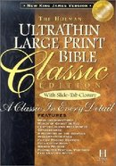 NKJV Ultrathin Classic Large Print Slide Tab Black Indexed Bonded Leather