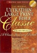 NKJV Ultrathin Classic Large Print Slide Tab Burgundy Indexed Bonded Leather