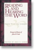 Reading and Hearing the Word From Text to Sermon Hardback
