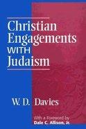 Christian Engagements With Judaism Hardback