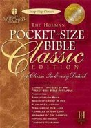 HCSB Pocket-Size Bible Classic Blue Bonded Leather