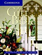 KJV Cambridge Gift White