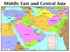 Wall Chart: Middle East and Central Asia (Laminated)