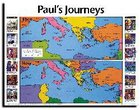 Wall Chart: Then and Now: Paul's Journeys (Laminated) (Then And Now Series) Chart/card