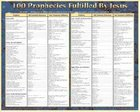 Wall Chart: 100 Prophecies Fulfilled By Jesus (Laminated) Chart/card