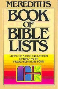 Merediths Book of Bible Lists