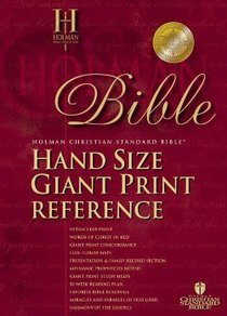 HCSB Hand Size Giant Print Reference Burgundy (Red Letter Edition)