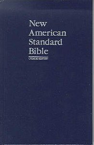 NASB Updated Edition Navy Pew Bible