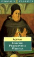 Aquinas: Selected Philosophical Writings Paperback