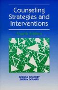 Counseling Strategies and Interventions (4th Edition) Paperback