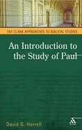 An Introduction to the Study of Paul Paperback