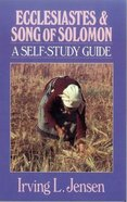 Self Study Guide Ecclesiastes & Song of Solomon (Self-study Guide Series) Paperback