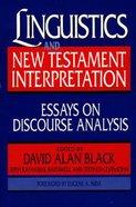 Linguistics and New Testament Interpretation Paperback