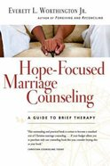 Hope-Focused Marriage Counseling (2nd Edition) Paperback
