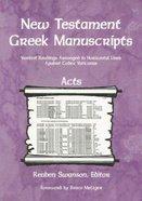 New Testament Greek Manuscripts: Acts Paperback