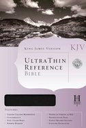 KJV Ultrathin Reference Black Bonded Leather
