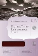 KJV Ultrathin Reference Burgundy Bonded Leather