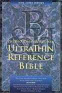 KJV Ultrathin Reference Burgundy Genuine Leather