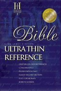 KJV Ultrathin Reference Burgundy Index Bonded Leather