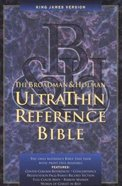 KJV Ultrathin Reference Black Index Genuine Leather