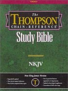 NKJV Thompson Chain Reference Burgundy Indexed Bonded Leather