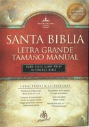 Spanish Hand Sized Giant Print Reference Black (Red Letter Edition) Bonded Leather
