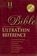 NKJV Ultrathin Burgundy Index Reference Bonded Leather