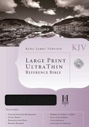KJV Ultrathin Large Print Reference Blue Indexed Bonded Leather