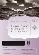 KJV Ultrathin Large Print Reference Black (Red Letter Edition) Genuine Leather