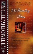 1 & 2 Timothy, Titus (Shepherd's Notes Series) Paperback