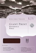 KJV Cornerstone Giant Print Reference Burgundy Bible (Red Letter Edition) Imitation Leather
