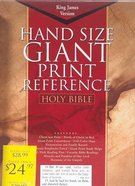 KJV Cornerstone Giant Print Burgundy Indexed (Red Letter Edition) Imitation Leather