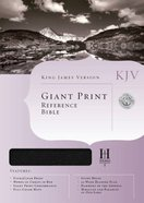KJV Giant Print Reference Black (Red Letter Edition) Bonded Leather
