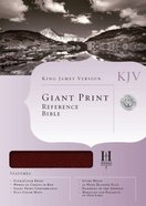 KJV Giant Print Reference Burgundy Bonded Leather