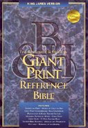 KJV Giant Print Reference Blue Indexed (Red Letter Edition) Bonded Leather