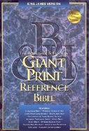 KJV Giant Print Reference Black Indexed Genuine Leather