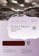KJV Giant Print Reference Bible Burgundy (Red Letter Edition) Genuine Leather