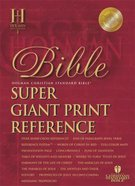 HCSB Super Giant Print Reference Black Indexed (Red Letter Edition) Imitation Leather