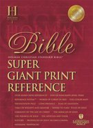 HCSB Super Giant Print Reference Burgundy Indexed (Red Letter Edition) Bonded Leather