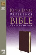 KJV Reference Bible Burgundy (Red Letter Edition) Bonded Leather