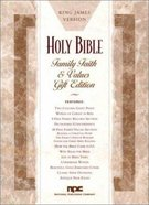 KJV Family Faith and Values Bible (Red Letter Edition)