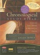 NKJV Chronological Study Bible Mahogany Genuine Leather